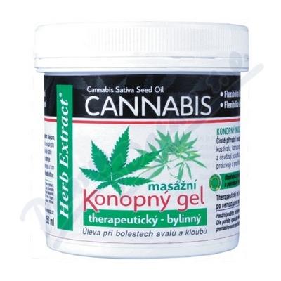 Cannabis Konopný masážní gel 250ml