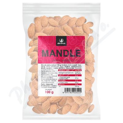 Allnature Mandle jádra natural 100g