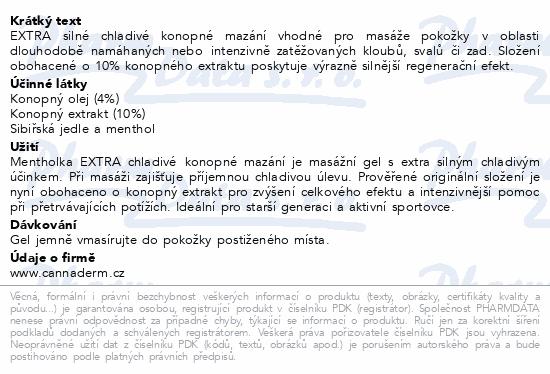 Cannaderm Mentholka EXTRA konopné mazání 150ml