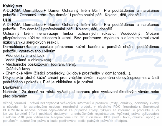 A-DERMA Dermalibour+ Barrier Ochranný krém 100ml